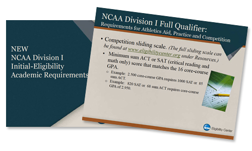 Download a copy of the official NCAA Academic Requirements for Athletics